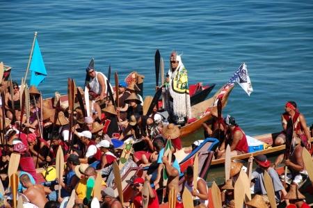 canoe landing at Suquamish